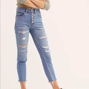 NWT Free People Soak Up The Sun Denim Jeans
